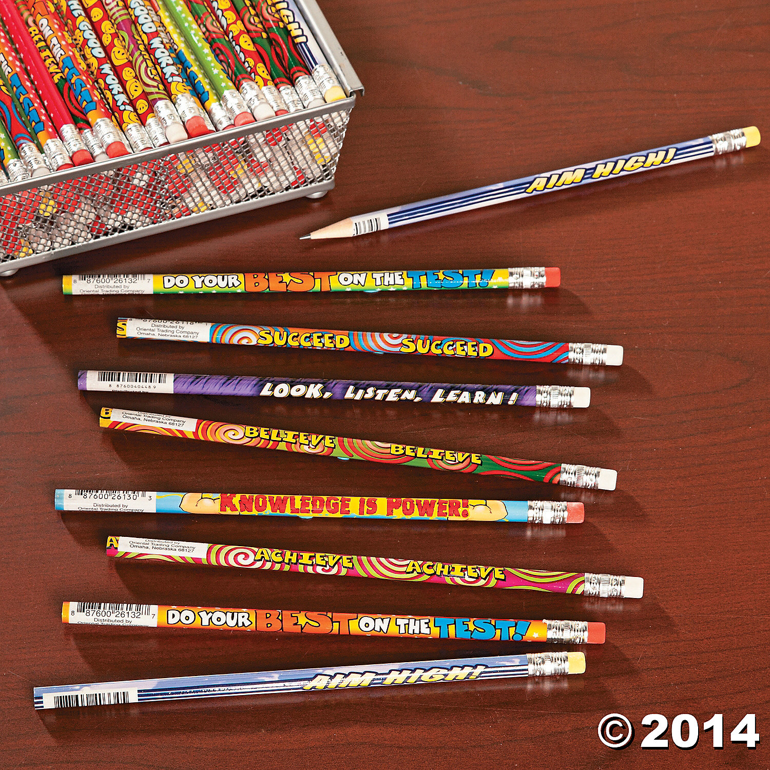 Mega Pack Student Motivational Pencils 144 Pk Party