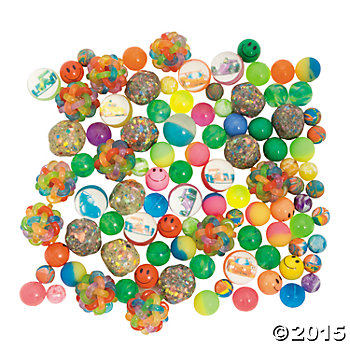 Rubber Bounce Balls Giant 100 Pack