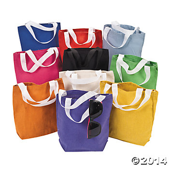 Canvas Tote Bags - 50 Pack