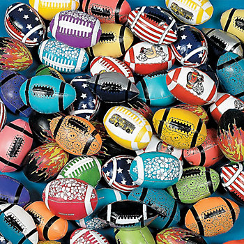 Vinyl Football Assortment 25 Pk