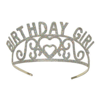 Birthday Girl Glittered Metal Tiara