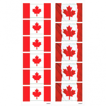 70% OFF: Canadian Flag Sticker Sheets - 8 Sheets