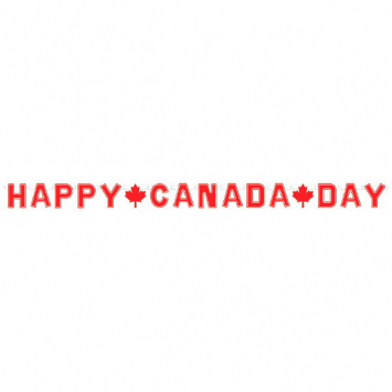 50% OFF: Happy Canada Day 7 Foot Letter Banner