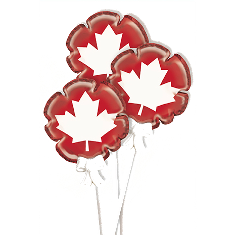 50% OFF: Canada Day Self Inflating Foil Balloons - 3 Pk