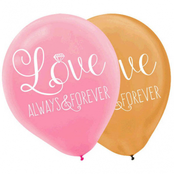50% OFF: Love Deluxe Large Latex Balloons - 6 Pk