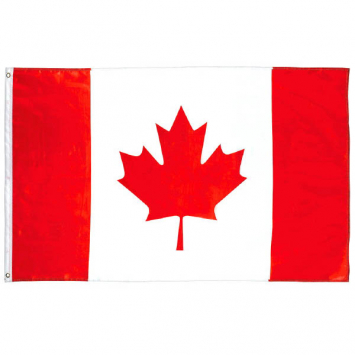 50% OFF: GIANT 5 Foot Fabric Canadian Flag