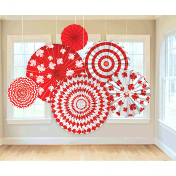 50% OFF: Canada Day Hanging Fans - 6 Pack