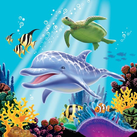 Ocean Party- Lunch Napkin 16 Pack