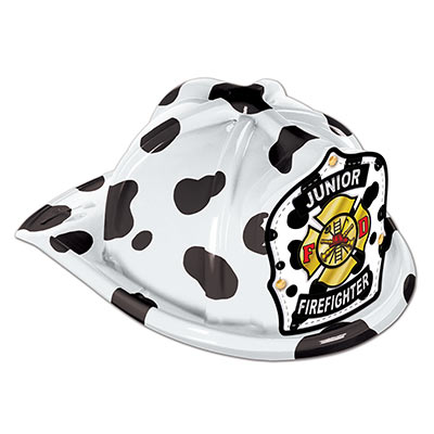 Dalmation Fire Fighter Hat White