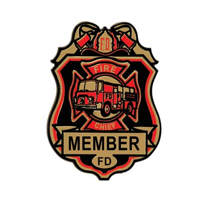 Fire Station Deluxe Badges w/Clip 4 Pk