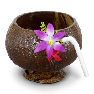 Real Coconut Cup with Straw