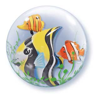 Under the Sea Jumbo Double Bubble Fish Balloon