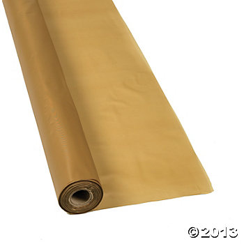 Gold Metallic Tablecover Roll - 100ft.