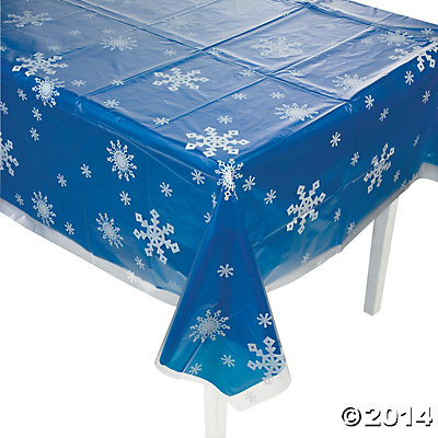 Clear Snowflake Tablecover