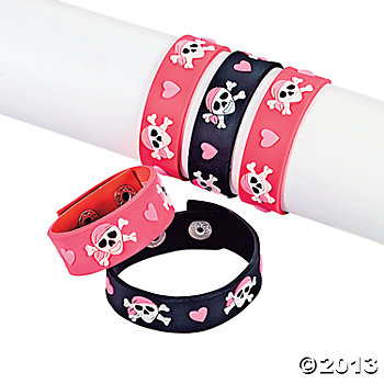 Pirate Girl Deluxe Rubber Bracelets 2 Pk