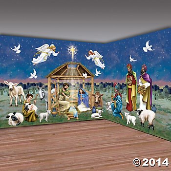 Religious Vinyl Design A Room Nativity Pack 30 Feet Party