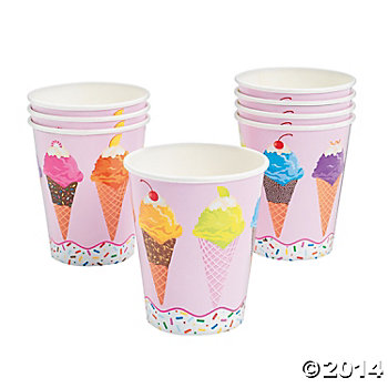 Ice Cream Party: Cups 8 Pack