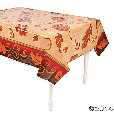 Thanksgiving Leaves Tablecloth