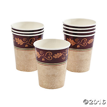 Thanksgiving Paper Cups - 8 pk