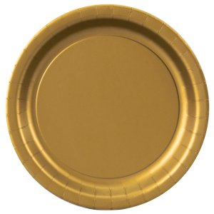 Gold Round Dinner Plates Big 16 Pack
