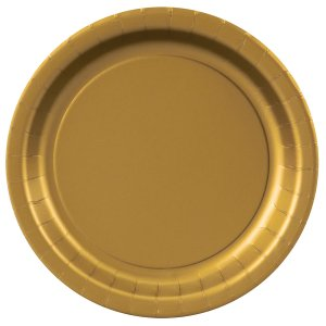 Gold Round Dessert Plates Big 20 Pack