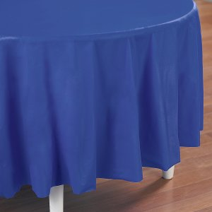 Royal Blue Round Table Cover