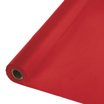 Red Tablecloth Roll - 100ft