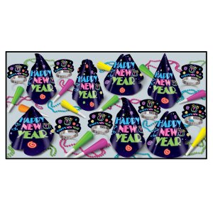 Neon Midnight New Years Party Kit for 10