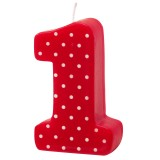 Age Candles: 1 Red Dot