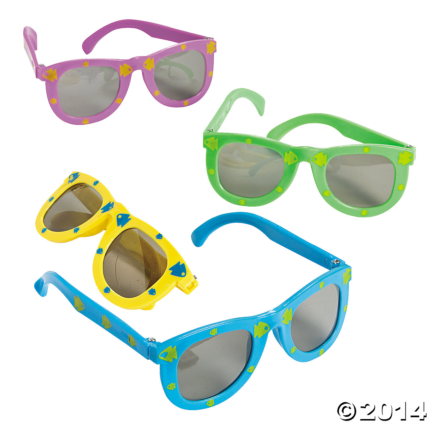 Fish Print Kiddie Sunglasses 12 Pk