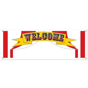 Carnival Welcome Write On Banner 5 Ft.