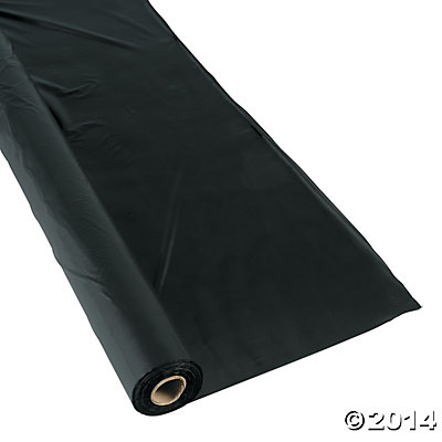 Black Tablecloth Roll - 100ft