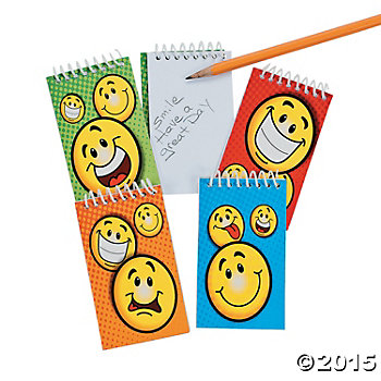 Happy Face Spiral Notepads - 72 Pack