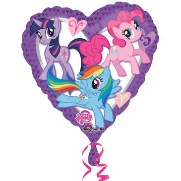 My Little Pony Heart Shaped Foil Balloon