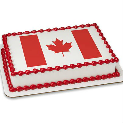 Canada Flag PERSONALIZED Edible Icing