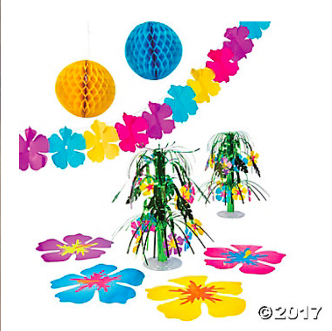 Hibiscus Party Decorating Kit  - 9Pc Set