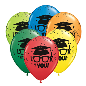 Look At You Assorted Colour Balloons - 50 Pk