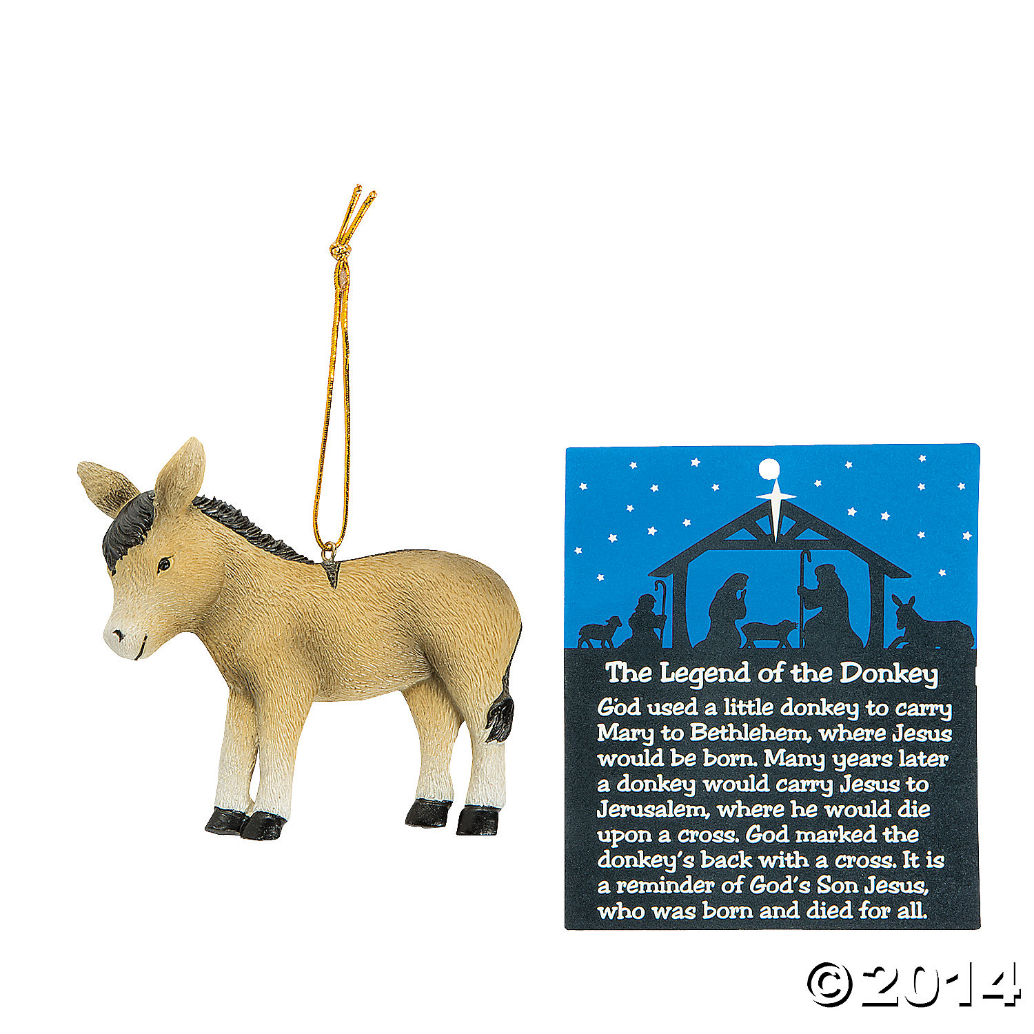 Donkey ornaments - Legend Of The Donkey Christmas Ornaments 12 Pk Party Supplies Canada Open A Party