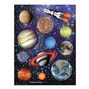 Space Party: Sticker Sheets 4 Pk