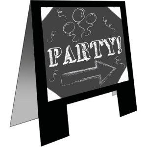 ChalkBoard Easel Party Sign w/Chalk