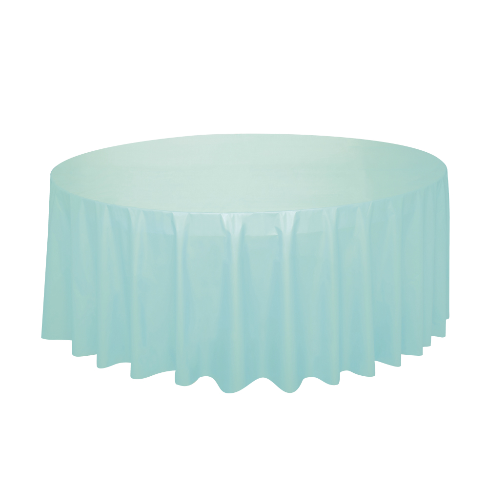 Mint Green Round Plastic Table Cover