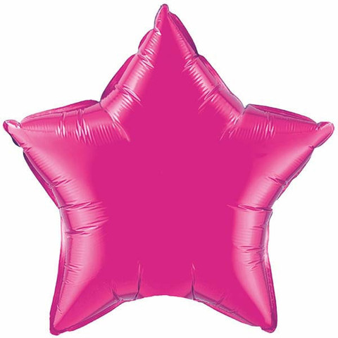"Magenta Star 4"" Foil Balloon"