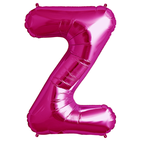 "Letter ""Z\"" Magenta Supershape Foil Balloon"
