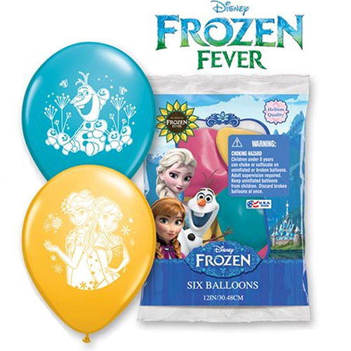 "Frozen Fever 12"" Assorted Latex Balloons - 6 Pk"