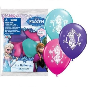 Frozen Latex Balloons 6 Pk