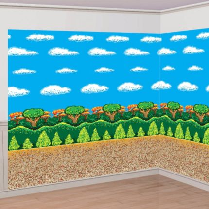 Minecraft 30 Ft by 8 Ft. GIANT Wall Decor