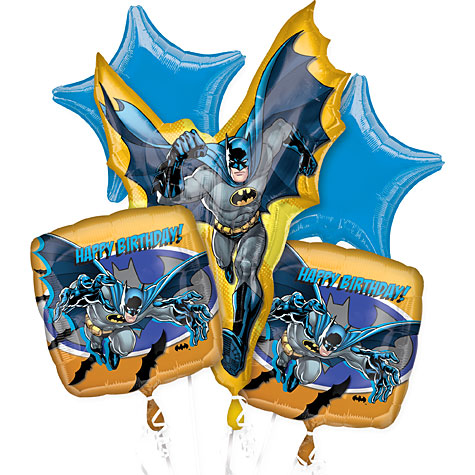 Batman Giant Balloon Bouquet Kit