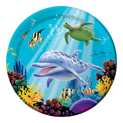 Ocean Party- Dinner Plates 8 Pack