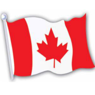 "50% OFF: Canadian Flag 18"" Cardboard Cutout"
