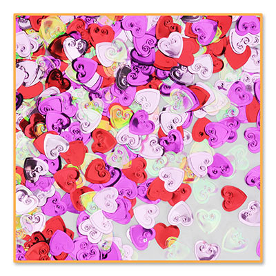 Embossed Hearts Table Confetti